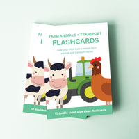 Farm Animal Flashcards | Transport Flashcards For Baby & Toddler