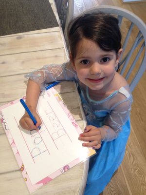 Learn To write your name, preschool handwriting practice