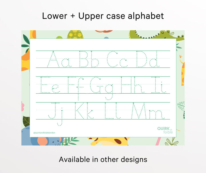 Uppercase + lower case alphabet - QUIRK + foible London
