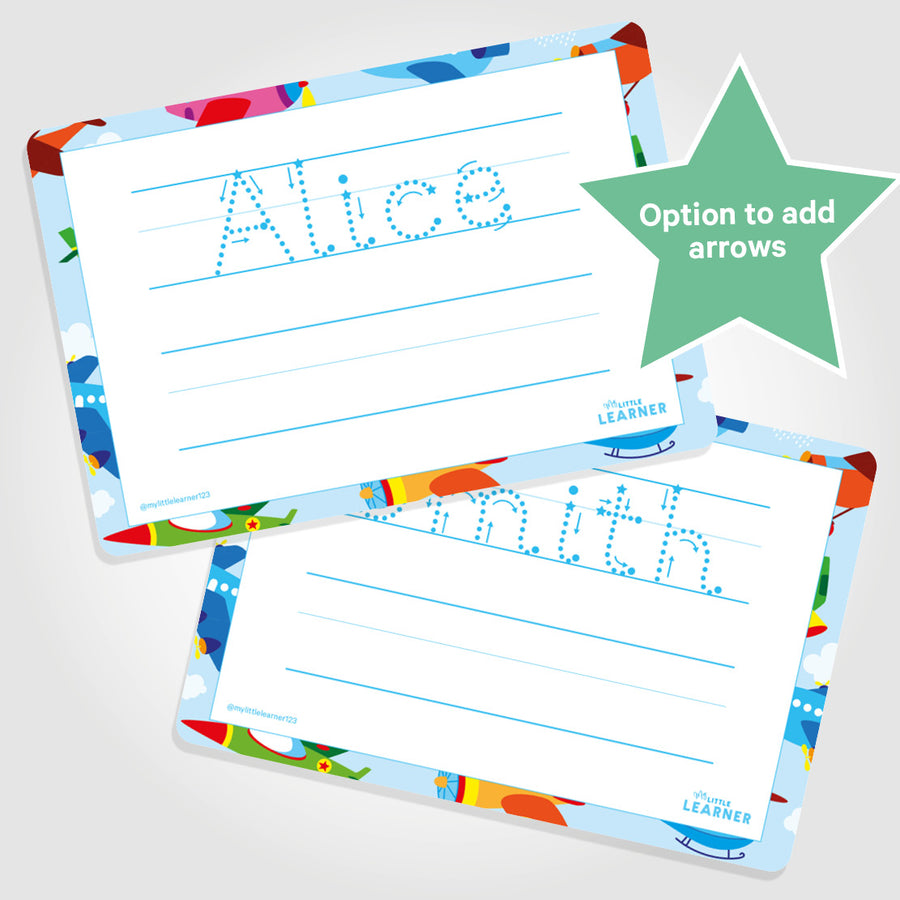 PERSONALISED LEARNING MAT | FULL NAME | PRACTICE LINES - My Little Learner