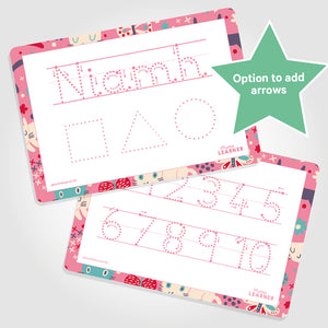 PERSONALISED LEARNING MAT | FIRST NAME + SHAPES - My Little Learner