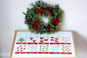 Christmas First Words + Number Flashcards - My Little Learner
