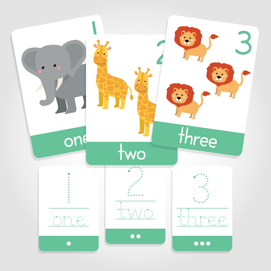 "Number Toddler Flashcards - ""Count + Write"" 1-10 - My Little Learner"