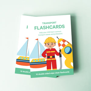 Transport Toddler Flashcards | Professions Flashcards