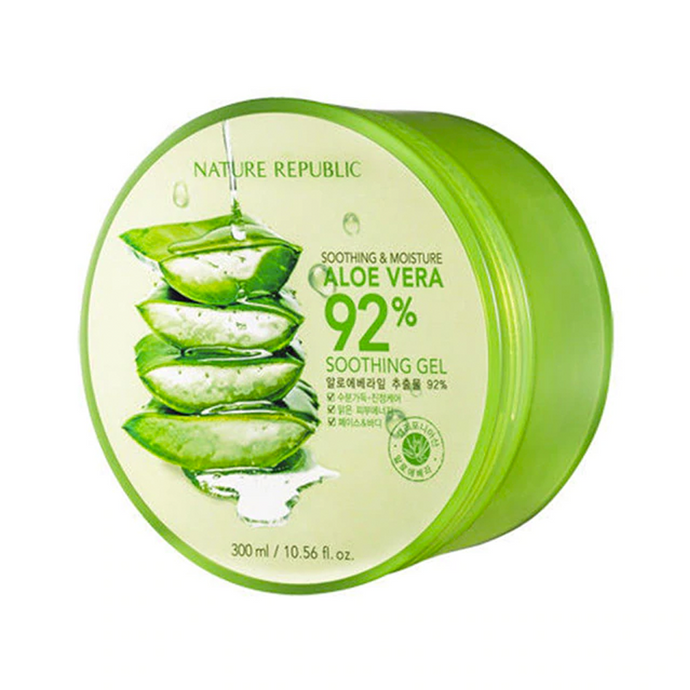 Soothing and Moisture Aloe Vera 92% Soothing Gel - Gel Crema Facial Calmante - Kocare Beauty