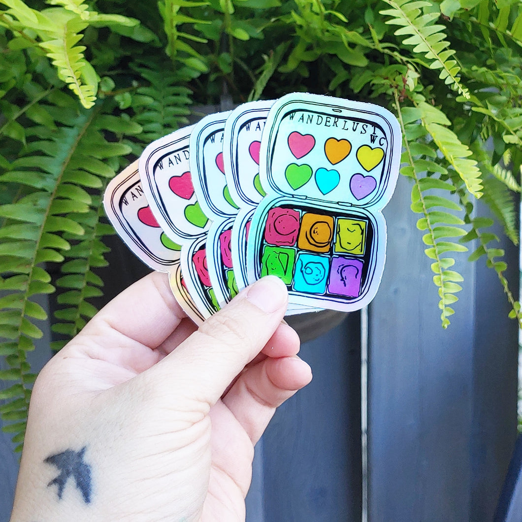 WLWC holographic palette sticker