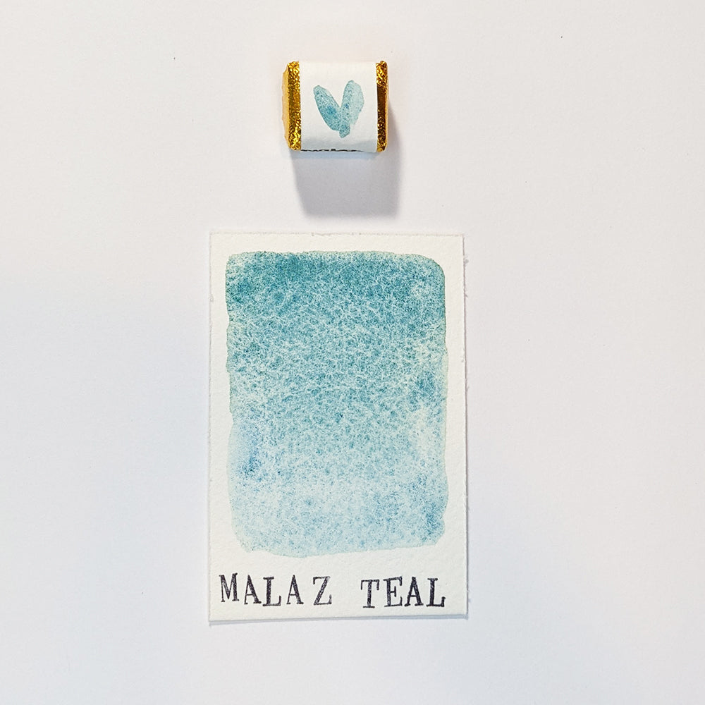 individual - MALAZ TEAL - watercolour HALF pan