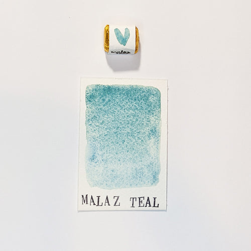 individual - MALAZ TEAL - watercolour QUARTER pan
