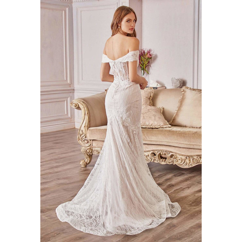Andrea and Leo Bridal Gown A0666W Lace Off The Shoulder Mermaid Bridal Gown
