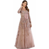 Dress Earth Dress Lara 29636 - Feathers embellished ball gown