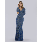 Dress Earth Dress Lara 29802 - V neck bell sleeves long dress