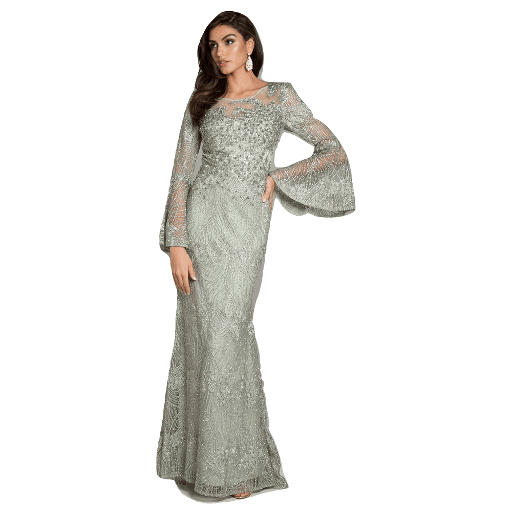 Dress Earth Dress Lara 29887 - Flutter sleeves lace mermaid gown