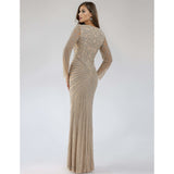 Dress Earth Lara 29602 - V neck embellished long dress