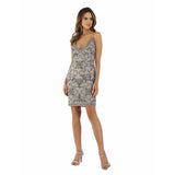 Dress Earth Lara 29612 - v  neck short dress