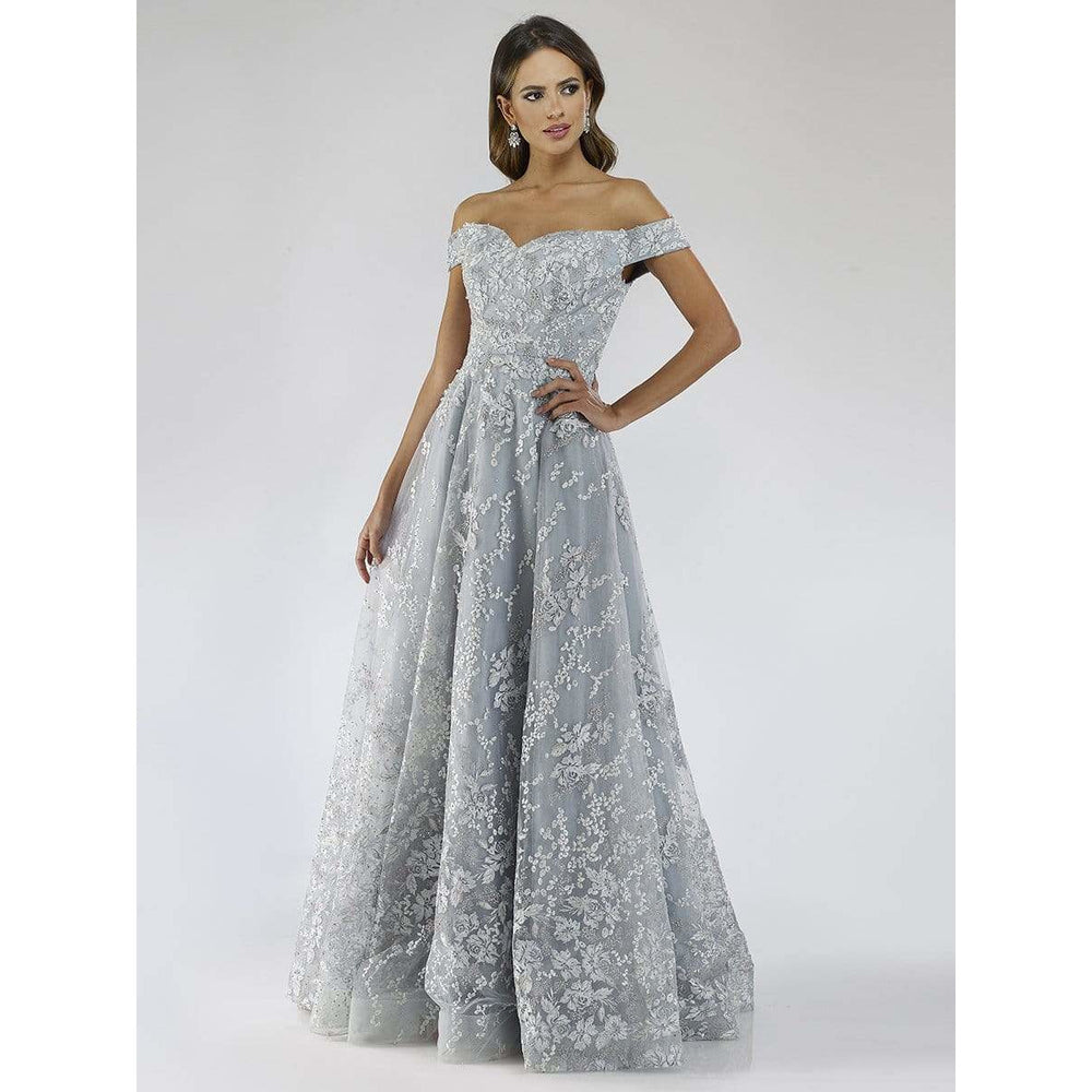 Dress Earth Lara 29628 - Floral appliqués ballgown
