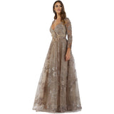 Dress Earth Lara 29668 - feather embellished ballgown