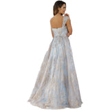 Dress Earth Lara 29674 - Straight neck ballgown