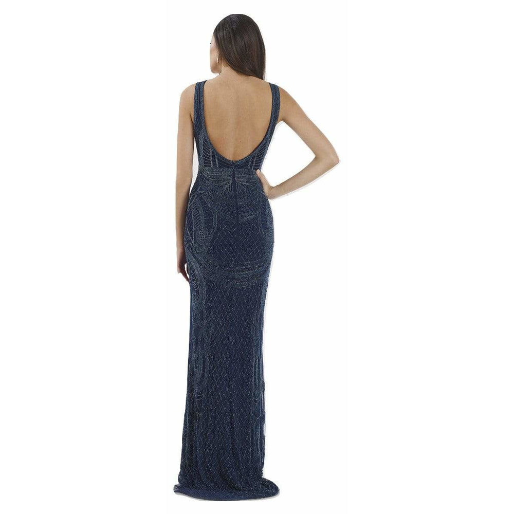 Dress Earth Lara 29710 - Sleeveless Beaded Long Dress