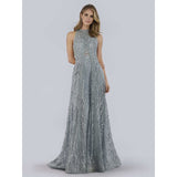 Dress Earth Lara 29758 - Halter Neck Fully Beaded Gown
