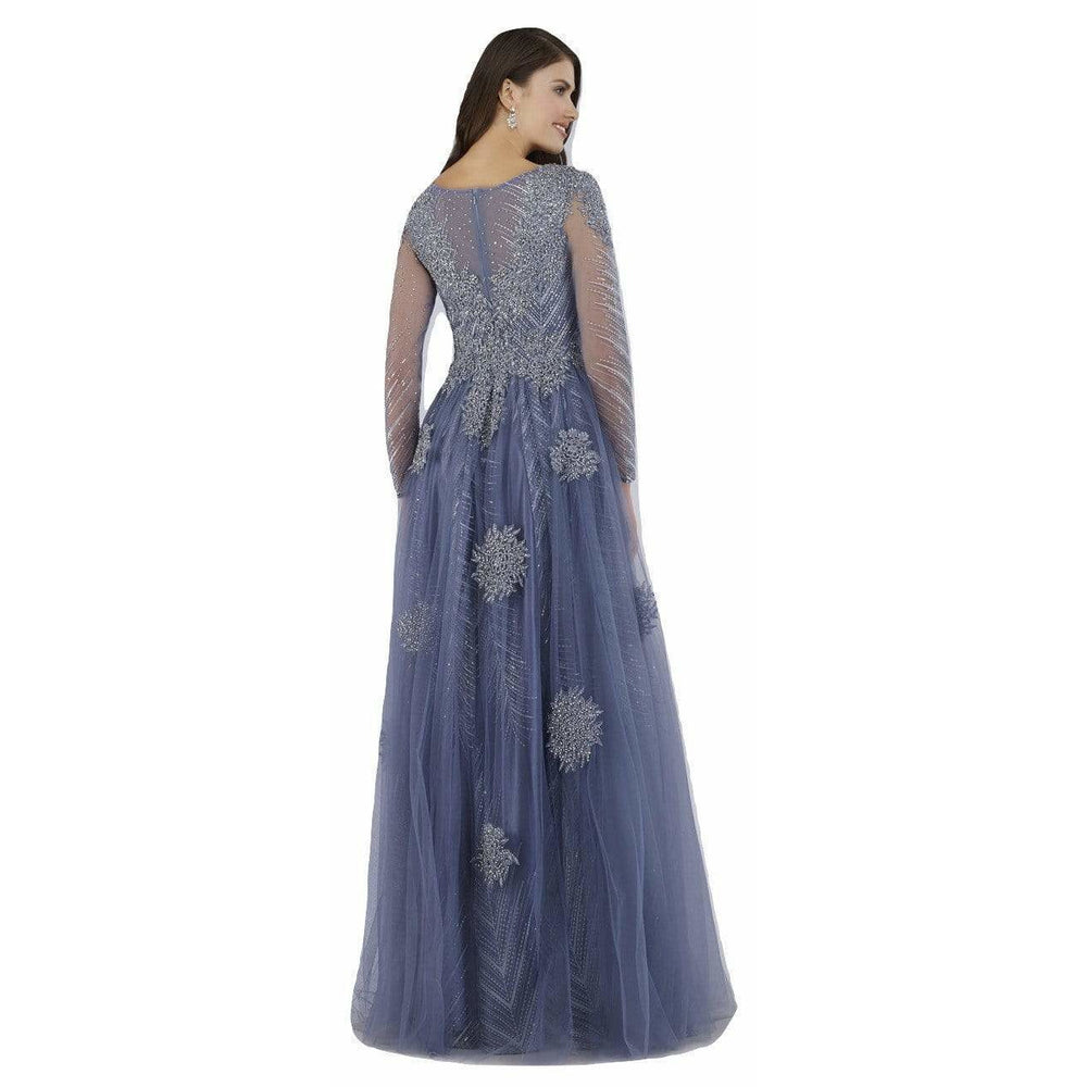 Dress Earth Lara 29760 - V Neck lace Appliques and Beaded Gown
