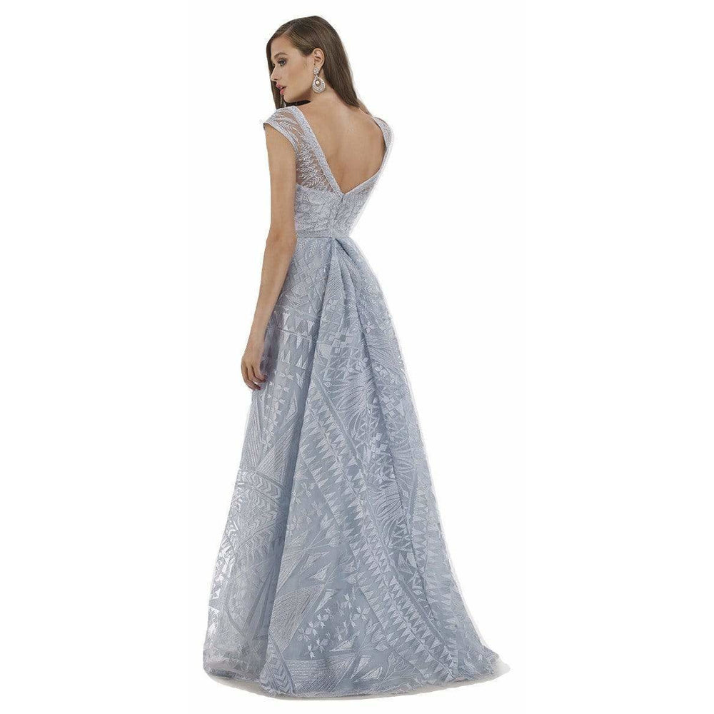 Dress Earth Lara 29787 - Cap Sleeves overskirt lace Ballgown