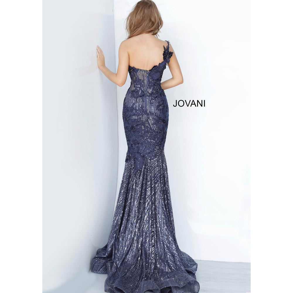 Jovani Evening Dress Jovani 02445 One Shoulder Sweetheart Neck Evening Dress