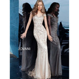 Jovani Fashion Dress Jovani 62720 V-Neck Beaded Formal Gown