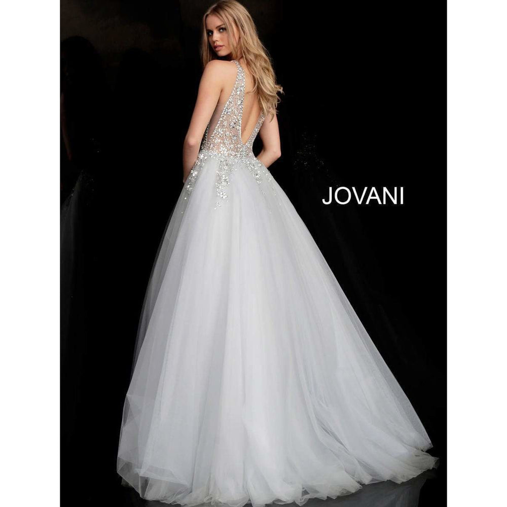 Jovani Prom Dress Crystal Embellished Bodice Prom Ballgown 65379