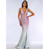 Lara Design Dress Lara 29493 - Shimmer Fabric Fitted Gown with Low Back