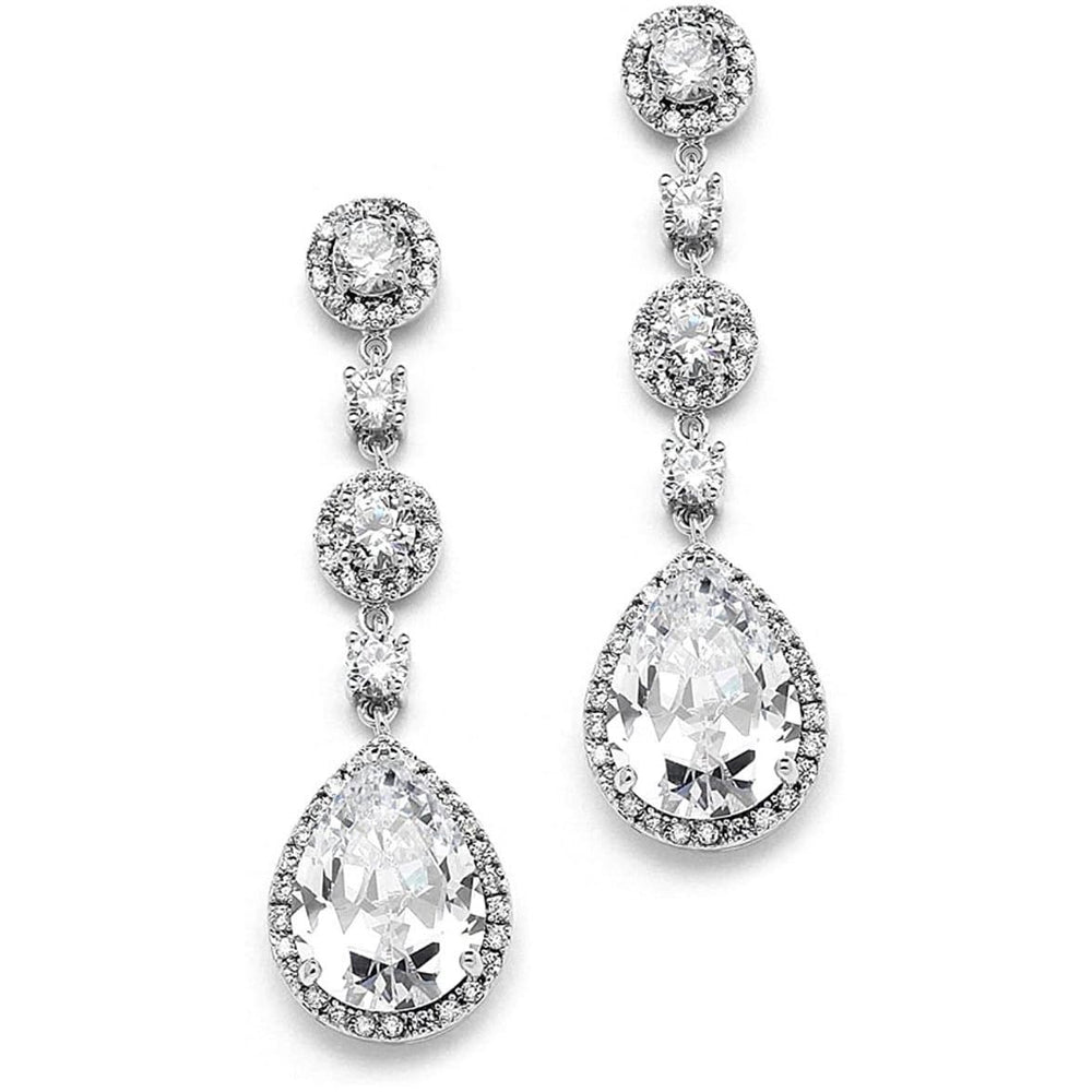 NorasBridalBoutiqueNY Accessories Bridal Tear Drop Earrings