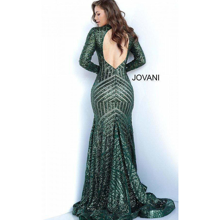 NorasBridalBoutiqueNY Evening Dress Green Long Sleeve Jovani Prom Dress 4060