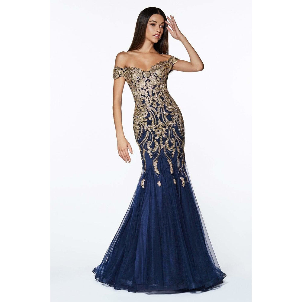 NorasBridalBoutiqueNY Evening Dress Of Shoulder Beaded Lace Tulle Mermaid Gown