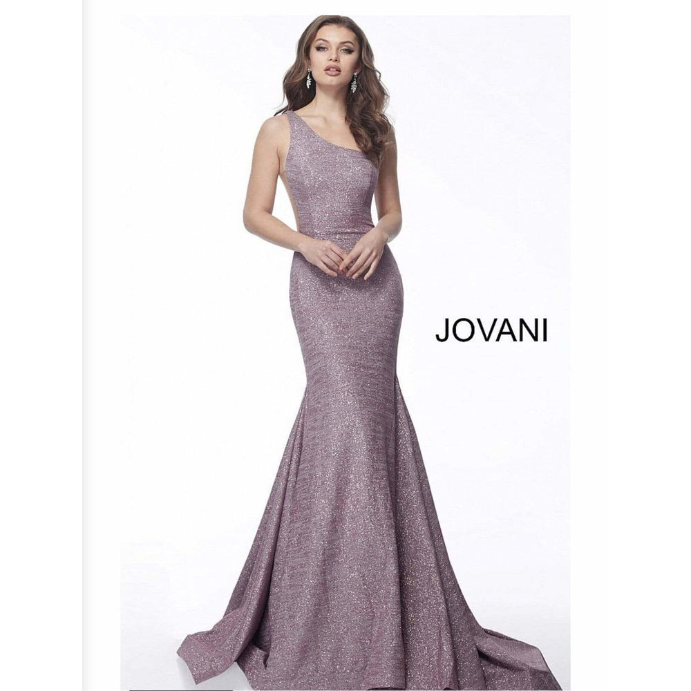 NorasBridalBoutiqueNY Prom Dress Mauve One Shoulder Glitter Prom Dress 67650