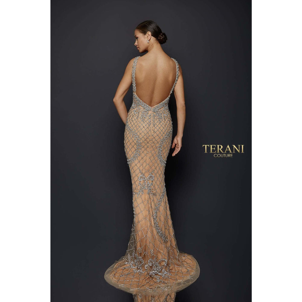 NorasBridalBoutiqueNY Sexy Crystal Beaded V-Neck Gown – 1921GL0609
