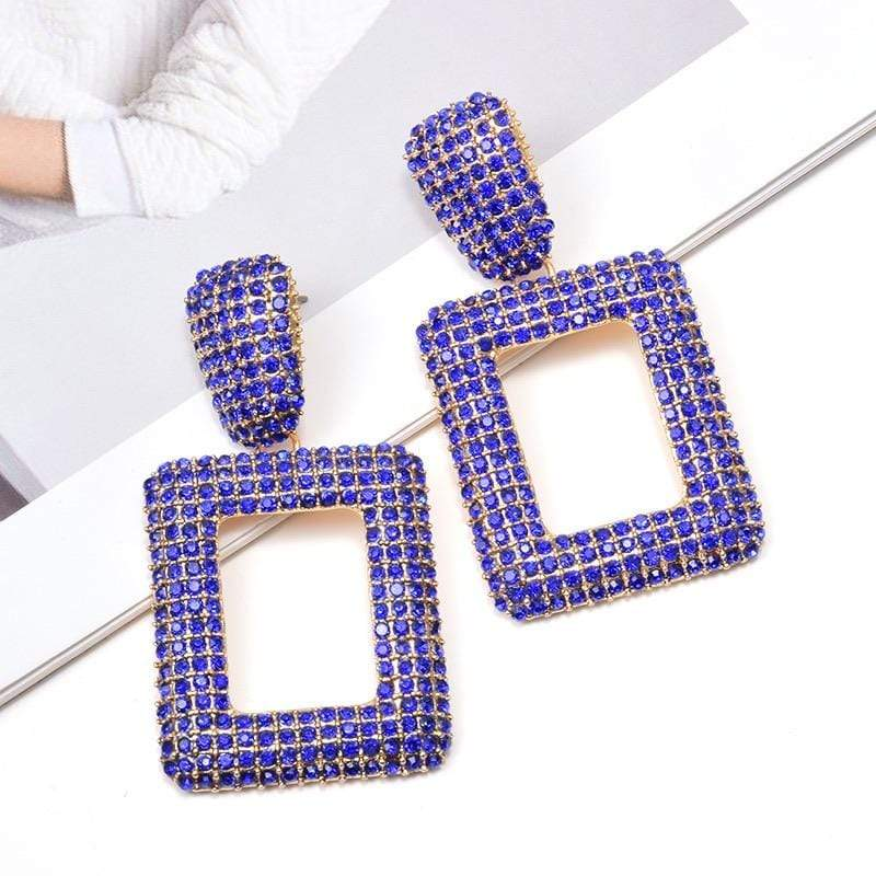 NorasBridalBoutiqueNY Square Fun Statement Fashion Earrings