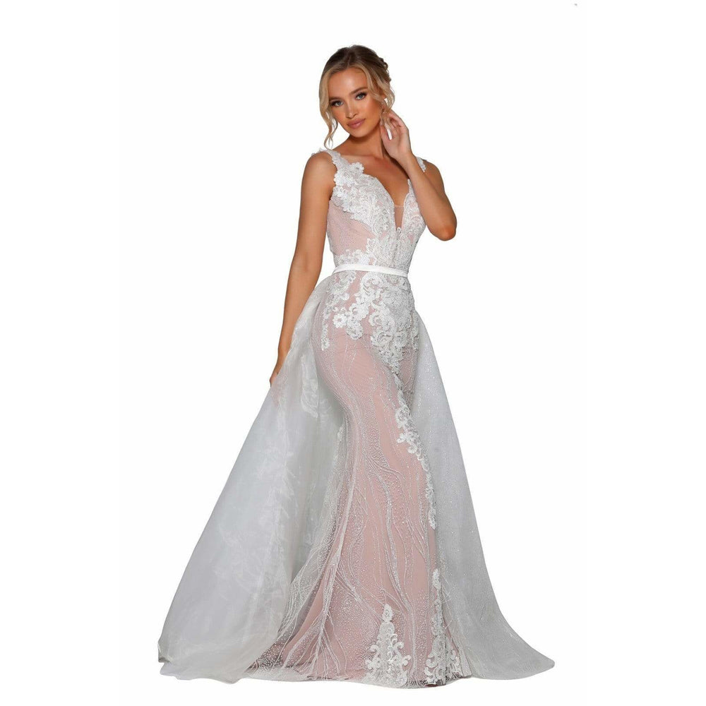 Portia and Scarlett Bridal Gown Portia And Scarlett Long Ivory Prom Dress PS6805S