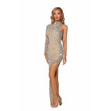 Portia and Scarlett Couture Gown PS5005C SILVER NUDE