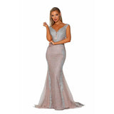 Portia and Scarlett Couture Gown PS6075 SILVER NUDE