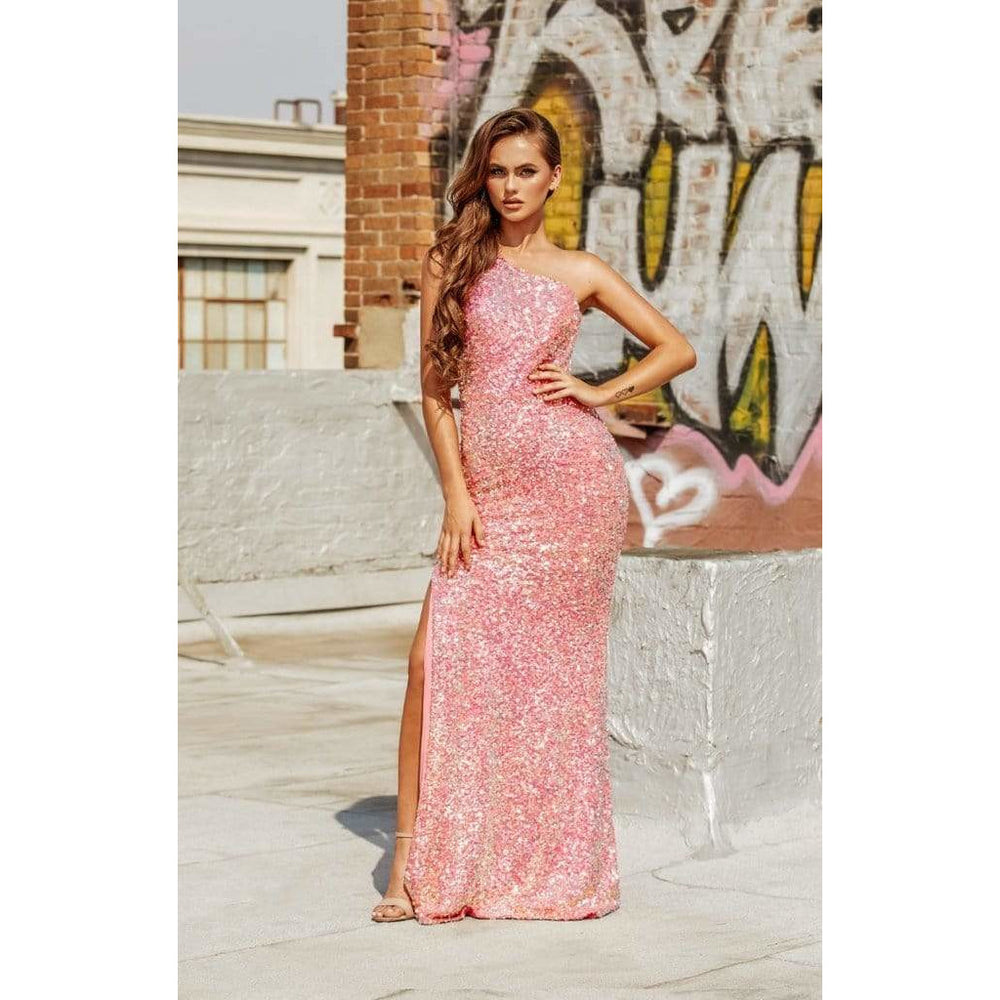 Portia and Scarlett Evening Dress Portia and Scarlett Evening Gown PS21014 PINK MULTI