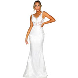 Portia and Scarlett Evening Dress PS1905 Ivory by Portia and Scarlett