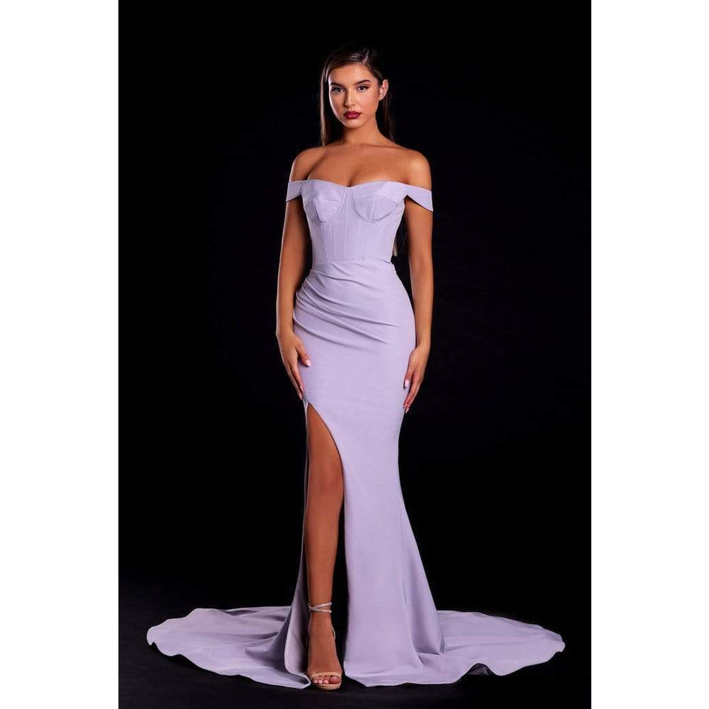 Portia and Scarlett Evening Dress PS21045 Ice Evening off the shoulders dress