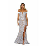 Portia and Scarlett Prom Dress Portia And Scarlett Long Cap Sleeve Prom Dress PS6390