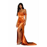 Portia and Scarlett Prom Dress Portia And Scarlett Long Coral Prom Dress PS6369
