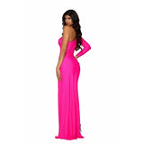Portia and Scarlett Prom Dress Portia And Scarlett Long Hot Pink Prom Dress PS6374