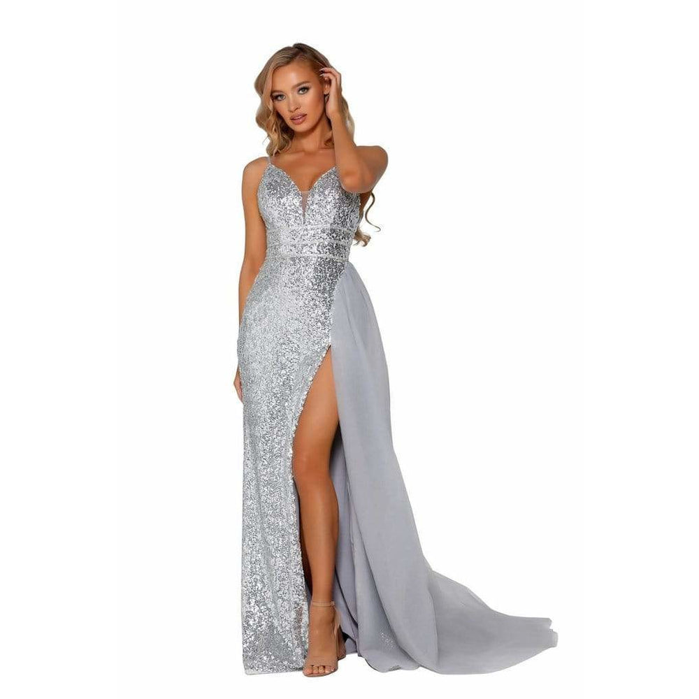 Portia and Scarlett Prom Dress Portia And Scarlett Long Sequined Dress PS5017