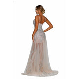 Portia and Scarlett Prom Dress Portia And Scarlett Sheer A Line Prom Dress PS6503
