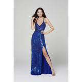Primavera Couture Prom Dress PRIMAVERA COUTURE - 3441 SEQUINED SLEEVELESS LONG GOWN WITH SLIT