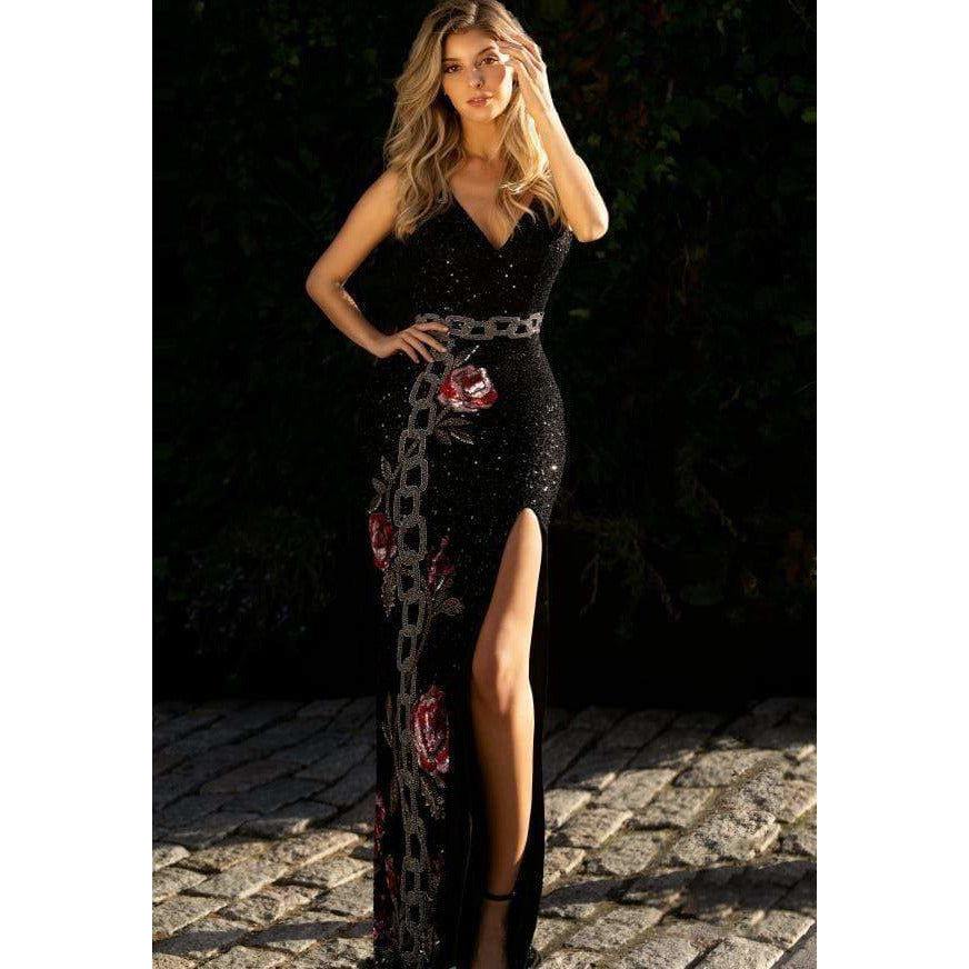 Primavera Couture Prom Dress Primavera Open Back Sequins Dress 3453