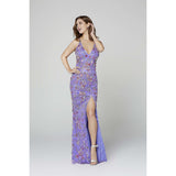 Primavera Couture prom gown Primavera Long Beaded Dress 3073