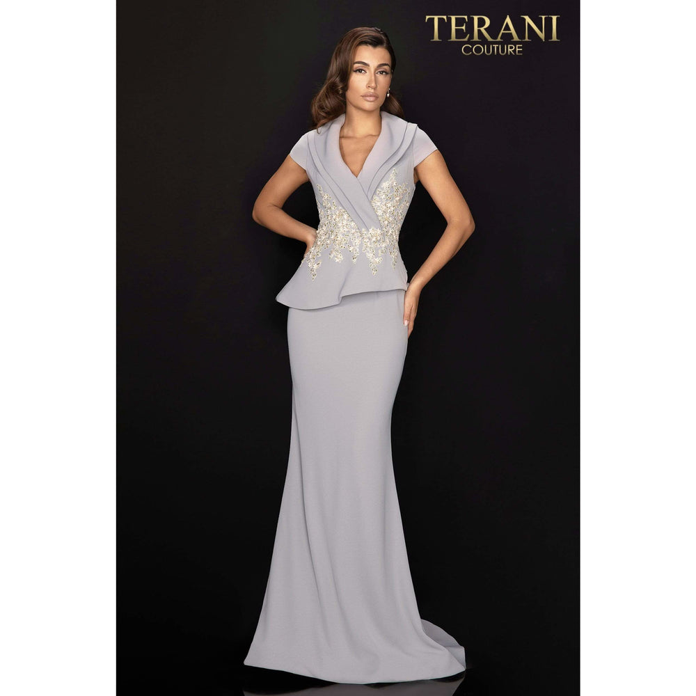 Terani Couture mother of bride dress Double collar two piece Mother of Bride dress with lace detail – 2011M2135